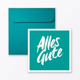 "TYPOP Glückwunschkarte ""Alles Gute"" quadratisch inkl. Umschlag"