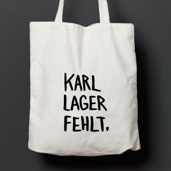 """edition ij Baumwolltasche """"Karl Lager fehlt"""""""