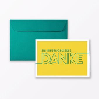 "TYPOP Dankeskarte ""Dankeschön"" GELB Klappkarte A6 inkl. Umschlag"