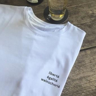 """edition ij Unisex T-Shirt """"liberté égalité weinschorlé"""" (Organic Cotton)"""