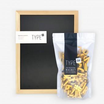 TYPE OH Set: Magnetische Kreidetafel & Moderne Magnetbuchstaben