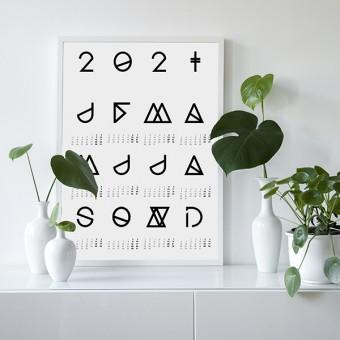 nahili 2021 KALENDER - weiß - Geometrical ABC (diverse Farben, DIN A3 / 50x70cm Poster)