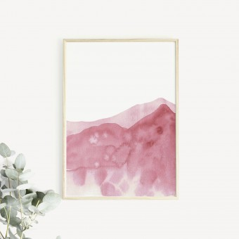 RÖDA VÅGOR Print als hochwertiger Posterdruck im skandinavischen Stil von Skanemarie +++ Geschenkidee