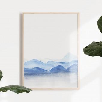 BLÅAVA Print als hochwertiger Posterdruck im skandinavischen Stil von Skanemarie