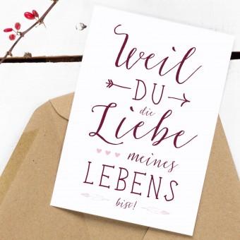 Kleine Papeterie // Postkarte // Boho