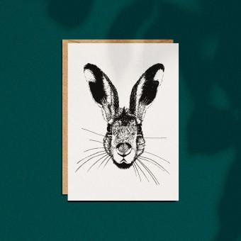 """Grußkarte """"Osterhase"""", A6 mit Umschlag"""