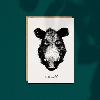 """Grußkarte """"Stay wild"""", A6 mit Umschlag"""