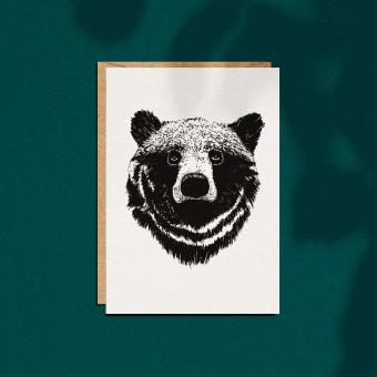 """Grußkarte """"Bär"""", A6 mit Umschlag"""