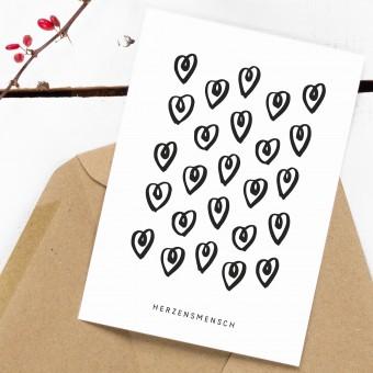 Kleine Papeterie // Herzensmensch // Postkarte