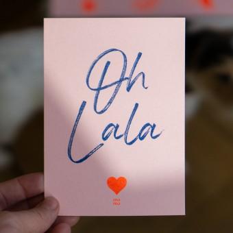 """Postkarte """"oh la la mama"""" zum Muttertag, Risographie Art Print, A6"""