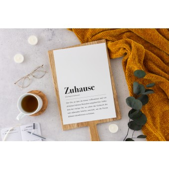 Zuhause Definition: DIN A4 Poster - Pulse of Art
