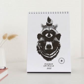 Tischkalender 2022 Waldtier / Kalender