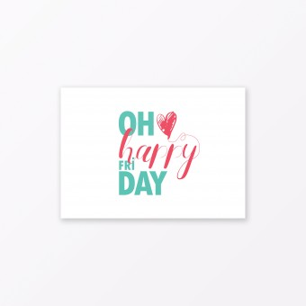 "TYPOP Postkarte ""Oh happy Friday"" DIN A6"