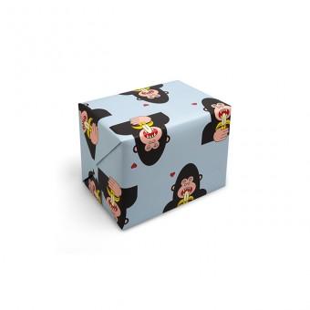 redfries wrap gorilla –Geschenkpapier DIN B2, 3 Bögen