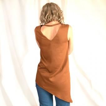 """WiDDA - asymmetrische Bluse """"Nena"""" in Senfgelb"""