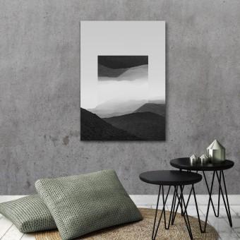 JOE MANIA / Modern Artprint Poster / Landscapes Mirrored  2 (El Cocuy B&W) DIN A4 - A0