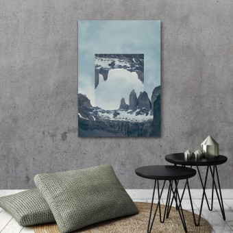 JOE MANIA / Modern Artprint Poster / Landscapes Mirrored  2 (Torres del Paine) DIN A4 - A0