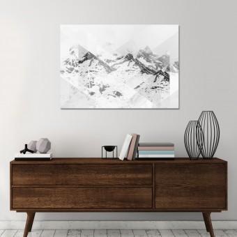 JOE MANIA / Modern Artprint Poster / Landscapes Scattered 1 (Perito Moreno B&W) DIN A4 - A0