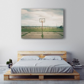 JOE MANIA / Modern Artprint Poster / Streetball Courts 1 (Puerto Natales, Chile) DIN A4 - A0