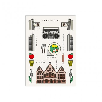 redfries frankfurt – Postkarte DIN A6