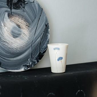 """Eliseeva Studio Porzellanbecher """"Blaue Blume"""""""