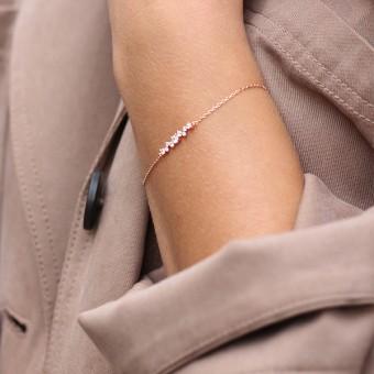 Anoa Armband Lotta 925 Sterling Silber rosévergoldet