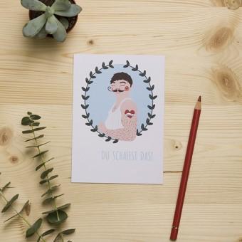 """HEJ Marlen Postkarte """"Du schaffst das"""""""