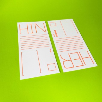 Bob and Uncle Design HIN & HER Postkarte (2er-Set)