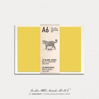 Feingeladen / Eco Love WILD ANIMALS Notecard Set No 8 / A6