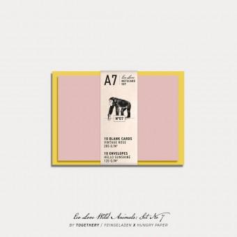 Feingeladen / Eco Love WILD ANIMALS Notecard Set No 7