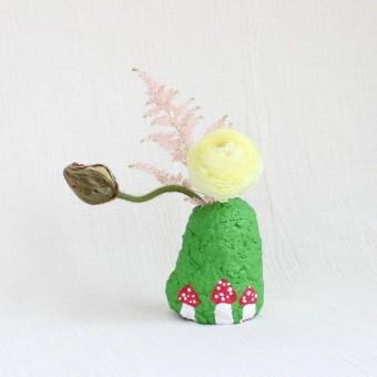 Catchup Studios - nachhaltige Vase - Green Mushroom Vase