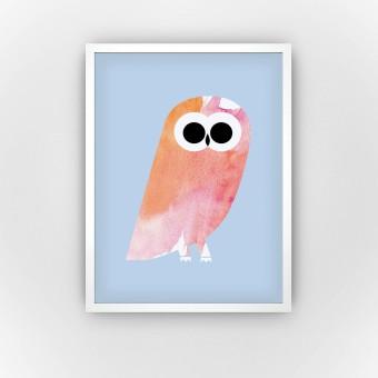 Peach Owl (Fine Art Bureau)
