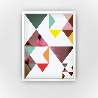 Flower in Triangles (Fine Art Bureau)