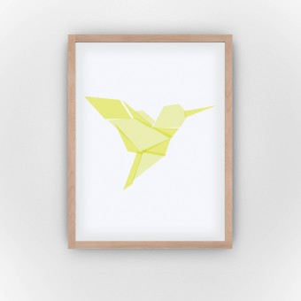 Yellow Hummingbird (Fine Art Bureau)