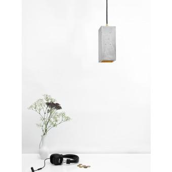 GANTlights Beton Hängelampe [B2] Lampe Gold rechteckig