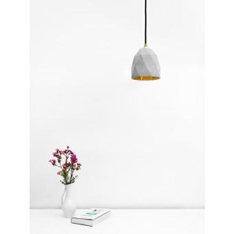 GANTlights - Betonlampe Hängelampe [T1] Lampe Gold ausgefallen