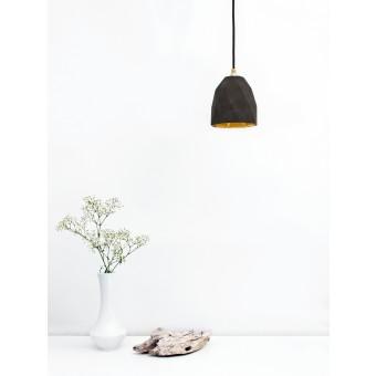 GANTlights - Beton Hängelampe [T1] dark Lampe Gold trianguliert