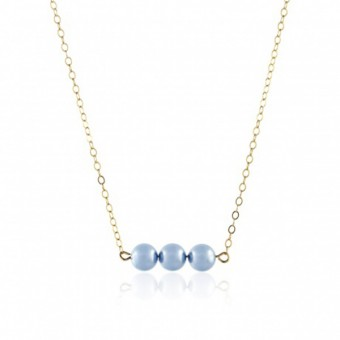 Anoa Kette '3 Perlen' hochwertig vergoldet