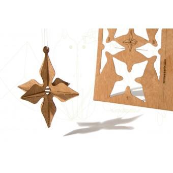 formes Berlin 3D Stern-Karten - 6 Postkarten aus Holz