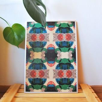 formwiese - »Mosaik Nr.1« (A3 Poster, Graspapier, abstrakt)