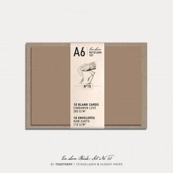 Feingeladen / Eco Love BIRDS Notecard Set No 10 / A6