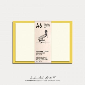 Feingeladen / Eco Love BIRDS Notecard Set No 11 / A6