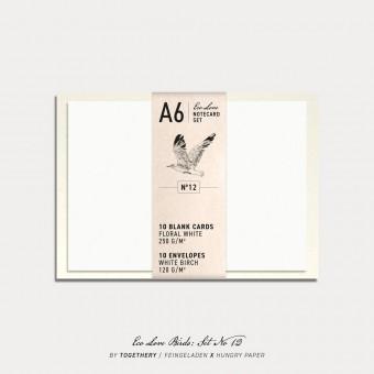 Feingeladen / Eco Love BIRDS Notecard Set No 12 / A6