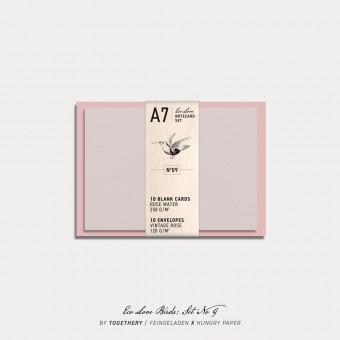Feingeladen / Eco Love BIRDS Notecard Set No 9 / A7