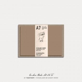 Feingeladen / Eco Love BIRDS Notecard Set No 10 / A7