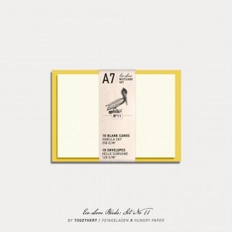 Feingeladen / Eco Love BIRDS Notecard Set No 11 / A7