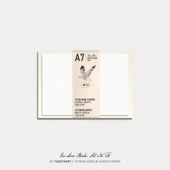 Feingeladen / Eco Love BIRDS Notecard Set No 12 / A7