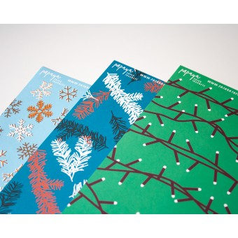 3er Set Geschenkpapier Weihnachten // Papaya paper products