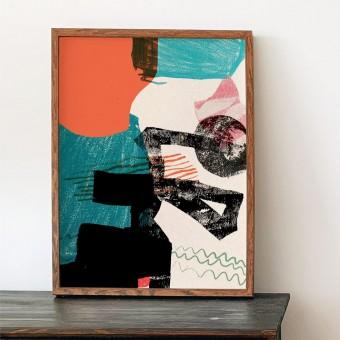 formwiese - »Spielwiese« (A3 Poster, Graspapier, abstrakt)