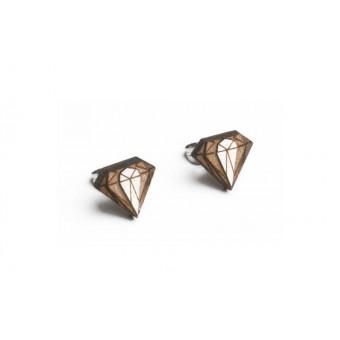 BeWooden Ohringe - Ohrstecker aus Holz - Diamond Earrings